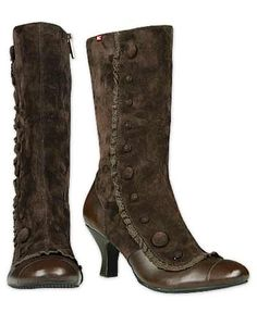 prairie granny suede boots (or are they victorian steampunk?)