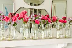Arranjos de Flores em Garrafas :: Arranging Flowers in Bottles