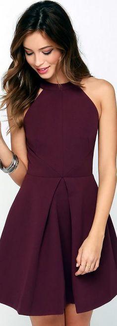 Burgundy homecoming dress,a line homecoming dress,satin party dress,short prom dress,women homecoming dress