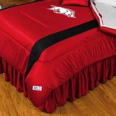 Arkansas Razorbacks Sidelines Comforter - Twin, Red