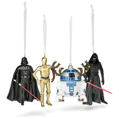 Hallmark Star Wars Special Edition Resin Ornaments ($3.99) ❤ liked on Polyvore featuring home, home decor, holiday decorations, star wars ornaments, holiday ornaments, resin ornaments and holiday home decor