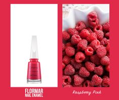 Try on the Raspberry Pink color to liven up your nails! #nailenamel #flormar #color #nails