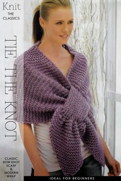 DiaryofaCreativeFanatic: Needlecrafts - Knit, Crochet - Tie the Knot Prayer Shawl Patterns, Knitting Patterns, Knitted Poncho, Knitted Shawls, Scarf Knots, Creative Knitting, Diy Crochet And Knitting, Knitting Accessories, Couture