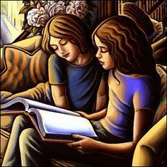 """Elizabeth and Emme"", 2000 / Anne Bascove (b. 1946)"
