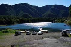 精進湖と太陽