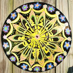 Hand Painted Record Mandala / Vinyl LP by FolkHeartRecords on Etsy, $50.00