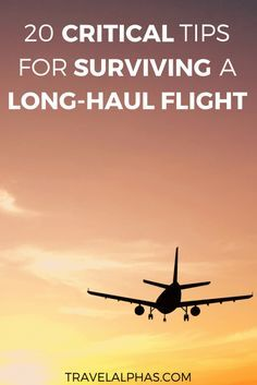 Are you going on an international trip or vacation soon? This post includes 20 crucial tips for surviving long-haul flights. These tips will undoubtedly make a long travel day go much more smoothly. | Tips for international travel |Essentials for traveling |Airplane essentials |Airplane travel tips | What to do on a long flight | Plane travel tips | How to survive long flights | Tips for long-haul flights | Tips for long flights | Tips for plane travel |