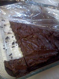 Keto Brownies BROWNIES -3/4 C unsalted butter  -2 oz unsweetened chocolate -1 ½ C Splenda  - ½ C cocoa powder -1 Tbsp coconut flour -1/8 tsp salt -4 eggs -2 tsp vanilla FROSTING -3 Tbsp Butter -1 Tsp Vanilla -1/3 C Cream -1 C Splenda -5 Tbsp Cocoa