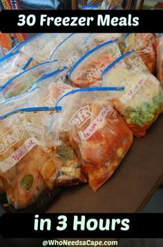 30 Summer Freezer Meals in 3 Hours ~ GREAT TIPS and Recipes!!!!!