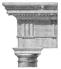 Doric column engraving, emphasize instead of concealing the rooms two columns