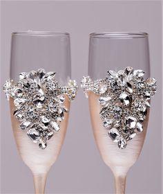 Boda personalizada flautas boda champagne por WeddingArtGallery