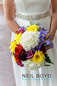 Wedding Bouquet Colorful Flowers Neil Boyd Photography Raleigh Nc Photographer