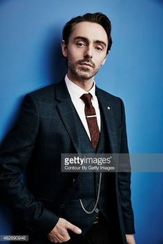 David Dawson poses in the Getty Images Portrait Studio powered by Samsung Galaxy at the 2015 TCA tour, California. #TheLastKingdom