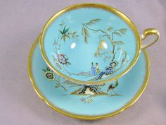 Paragon Blue Chinoiserie Tea Cup and Saucer | eBay