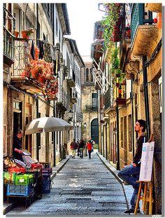Santa Maria street (Guimaraes) #Portugal