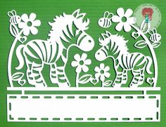 This listing is for a paper cut template as shown in the second and third image with a BLANK banner that you can personalise yourself, which is an Instant digital download only. Any framed or cut images are for illustration purposes only. Let your imagination run wild with this very cute paper cut design! This paper cut image would be perfect to use for wall decoration, card making, and other scrapbooking projects!  Included in this digital download are the following files:  *SVG cutting…