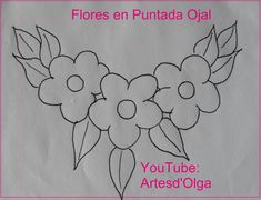 Artesd & # Olga: Flowers in Buttonhole Stitch Floral Embroidery Patterns, Hand Embroidery Stitches, Hand Embroidery Designs, Applique Patterns, Ribbon Embroidery, Beading Patterns, Quilling Designs, Fabric Painting, Quilts