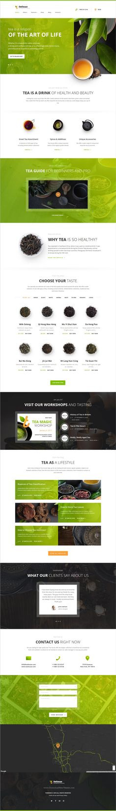Tea house is a wonderful responsive #WordPress theme for #webdev your #tea store, #cafe, bar, restaurant, bakery websites download now➩ https://themeforest.net/item/tea-house-tea-store-and-cafe/19352266?ref=Datasata