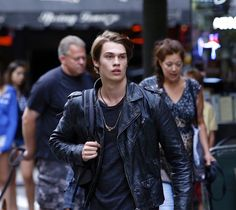 During a tense moment in #HighStrungMovie, JOHNNIE is running in the street of New York City. Actor/singer Nicholas Galitzine plays the role in the film.
