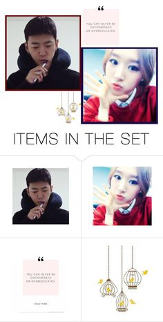 """—to my baby girl from yongguk"" by anon-kpoper ❤ liked on Polyvore featuring art"
