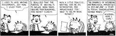 academia according to calvin & hobbes #wisdom #cartoon