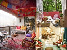alfombras para la decoración de terrazas modernas