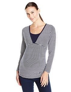 Ripe Maternity Womens Penny Stripe Nursing Top Penny Feeding Top Long Sleeve Stripe NavyWhite Medium >>> Learn more by visiting the image link. (This is an affiliate link and I receive a commission for the sales)