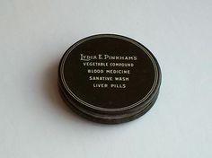 RaRe Antique LYDIA E PINKHAM Powder Compact SCARCE Vintage Makeup | eBay