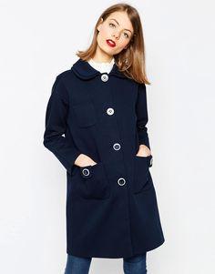 19f37ed73f9 Image 1 of ASOS Oversized Coat with Double Collar. Rachel Rule