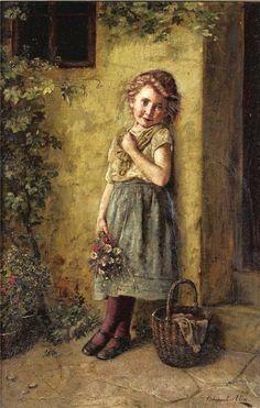 The Flower Girl - Edmund Adler (1876 – 1965, Austrian)