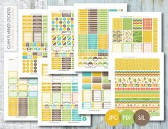 Free Monthly Printable Planner Stickers Set - Adventure - Erin Condren