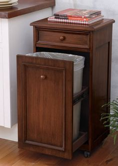 how to build a custom tilt-out trash cabinet | kitchens and house