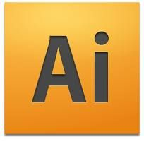 Vektorgraphik-Programm Adobe Illustrator.