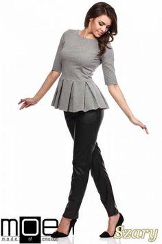 Damska bluzka baskinka marki MOE.  #cudmoda #moda #styl #ubrania #odzież #clothes #bluzki