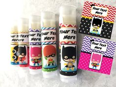 Superhero Party Favors  Set of 5  Superhero Theme  by TwistyTurtle