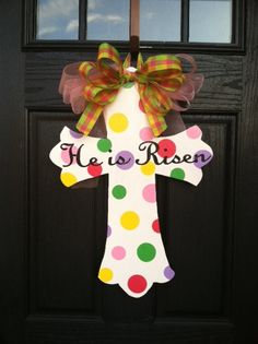 EASTER/SPRING Expression Wooden Cross. $42.00, via Etsy.
