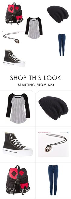 """""""I was bored....again"""" by ashanitor on Polyvore featuring American Eagle Outfitters, Leith, Converse and Warehouse"""
