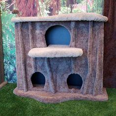 "KittycatCondos 46"" Cat Condo Perch Color: Coffee, Body Color: Castle Gray"
