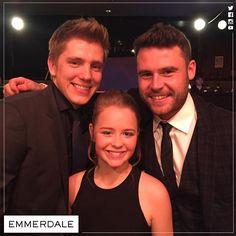 Ryan Hawley, Isobel Steele, and Danny Miller