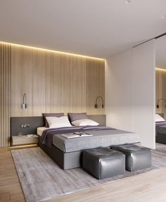 Model Bedroom Interior Design Luxury 30 Trendy Modern Bedroom Ideas 2020 for Modern Style Lovers Bedroom Lamps Design, Purple Bedroom Design, Modern Bedroom Design, Modern House Design, Home Decor Bedroom, Bedroom Designs, Bedroom Ideas, Bedroom Lighting, Entryway Decor