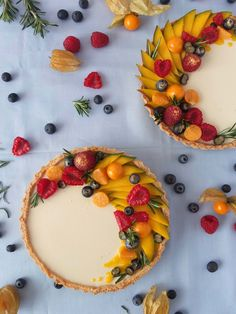 Quick Dessert Recipes, Tart Recipes, Sweet Recipes, Pastry Recipes, Mango Tart, Mango Pie, Mango Cheesecake, Crema Recipe, Köstliche Desserts