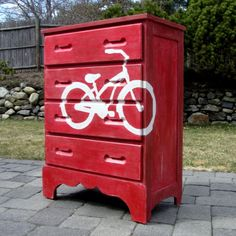 Painted Therapy: An Inspired Bicycle Dresser