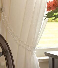 beaded curtain tiebacks