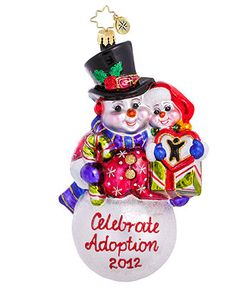 Christopher Radko Christmas Ornament, 2012 Dave Thomas Foundation Adoption Charity - 2012 Christmas Ornaments - Holiday Lane - Macy's