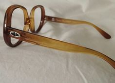 VINTAGE CHRISTIAN DIOR EYEGLASSES CLEAR BROWN TINT FRAMES WOMEN'S FREE SHIP #ChristianDior