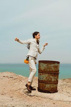 """Missy Rayder in """"Modern Nomad"""" byAlexander NeumannforHarper's Bazaar Russia,July 2014"""