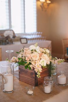 Palette of Petals' Rented Wood Boxes for Low Tables