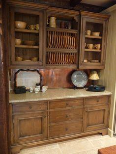 French gray island kitchen in Alabama stone cottage