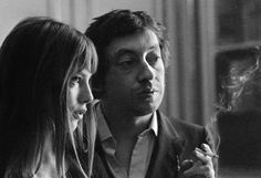 Serge Gainsbourg et Jane Birkin Serge Gainsbourg, Gainsbourg Birkin, Charlotte Gainsbourg, Great Love Stories, Love Story, Jane Birkin Style, Provocateur, English Actresses, Glamour