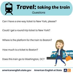 Phrases - Travel: taking the train - Questions
